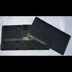 Coach Wallet & Matching Check Book Holder